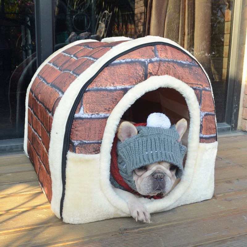 Winter Bed House for French Bulldog (WS311) - Frenchie Bulldog Shop