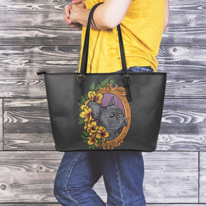 Frenchie Fashion - Leather Tote Bag