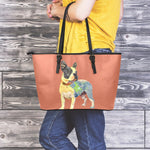 Frenchie Maps - Leather Tote Bag - frenchie Shop