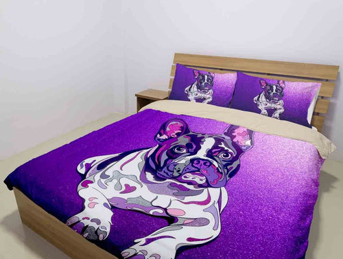 The Purple Frenchie - Beddig Set
