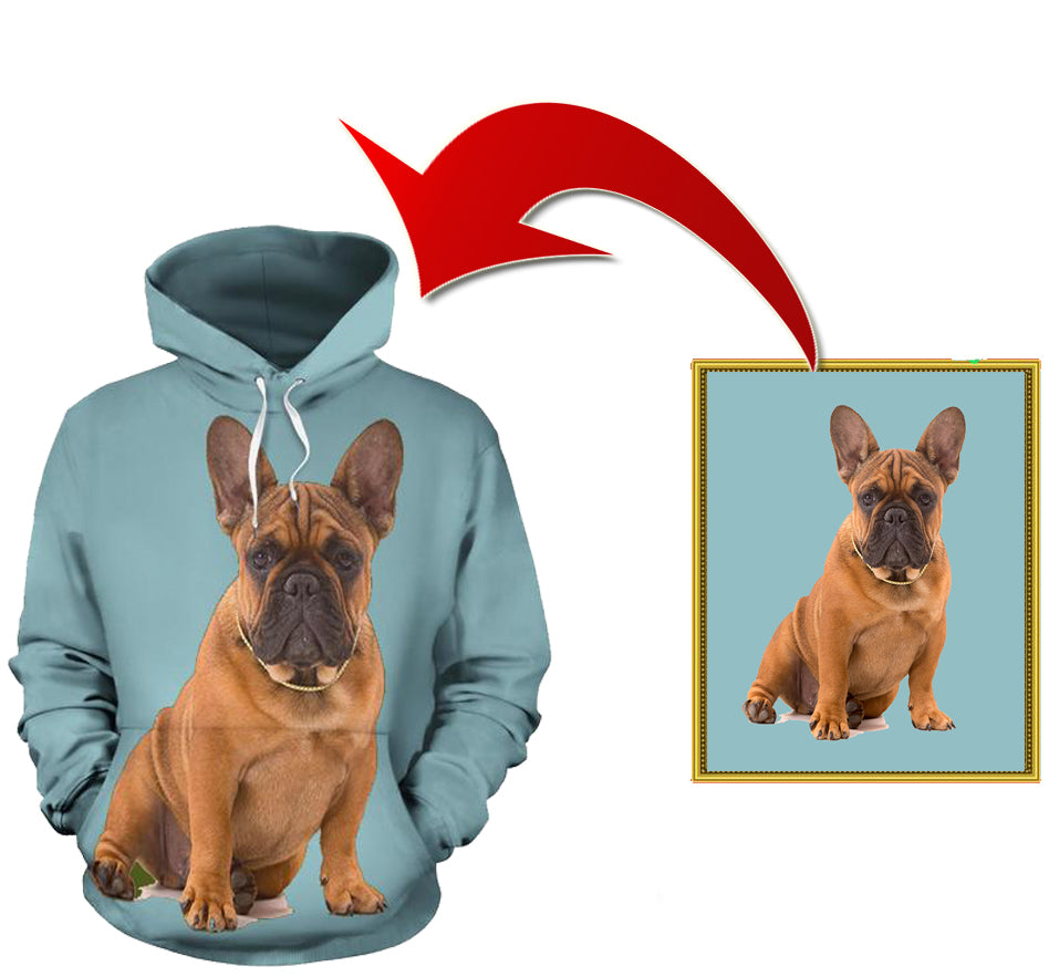Custom All Over Hoodie - frenchie Shop