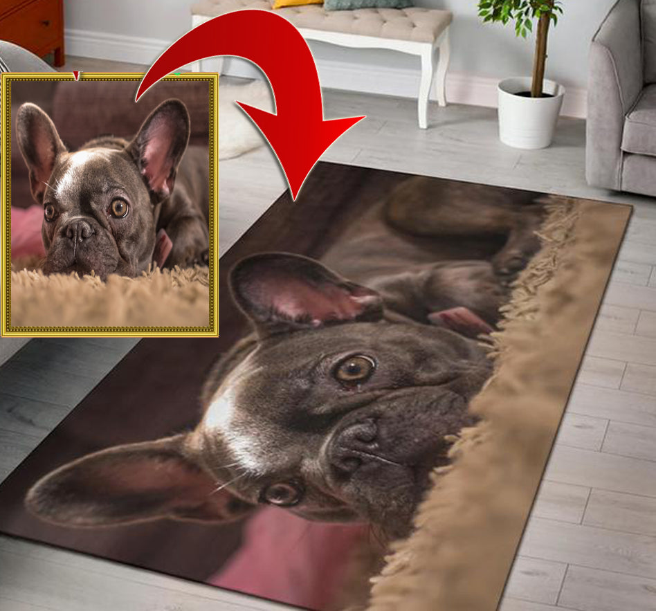 Custom Area Rug - Frenchie Bulldog Shop