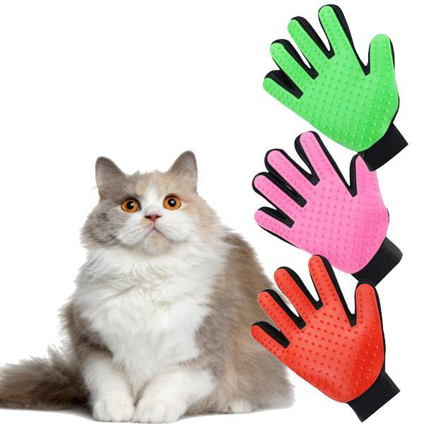 Pet Hair Removal Glove For Dogs & Cats