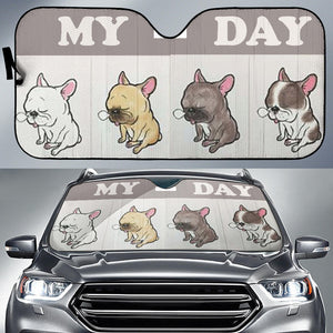 My Day Frenchie - French Bulldog Auto Sun Shades - frenchie Shop