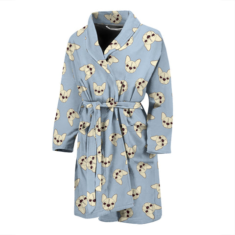 Brown Head Frenchie - French Bulldog Bath Robe Men - frenchie Shop