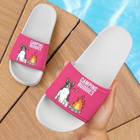 Camping Frenchie - French Bulldog Slide Sandals - frenchie Shop