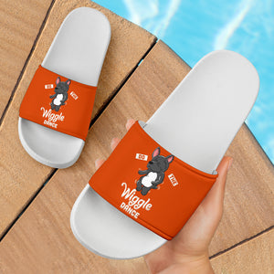 Funny Wiggle Frenchie - French Bulldog Slide Sandals - frenchie Shop