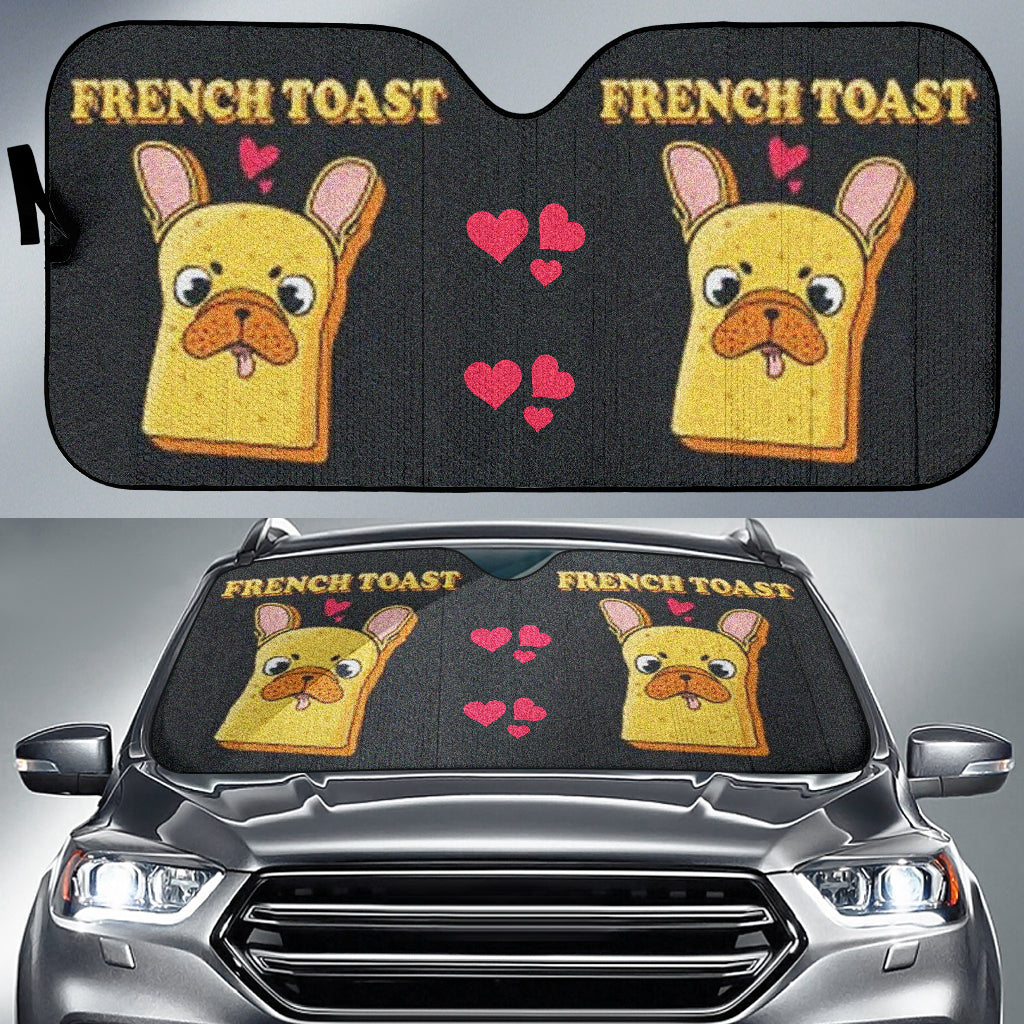 French Toast - French Bulldog Auto Sun Shades - frenchie Shop