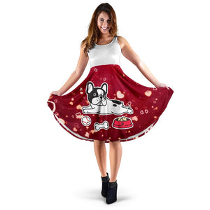 Frenchie Heart Love - French Bulldog Women Dress - frenchie Shop