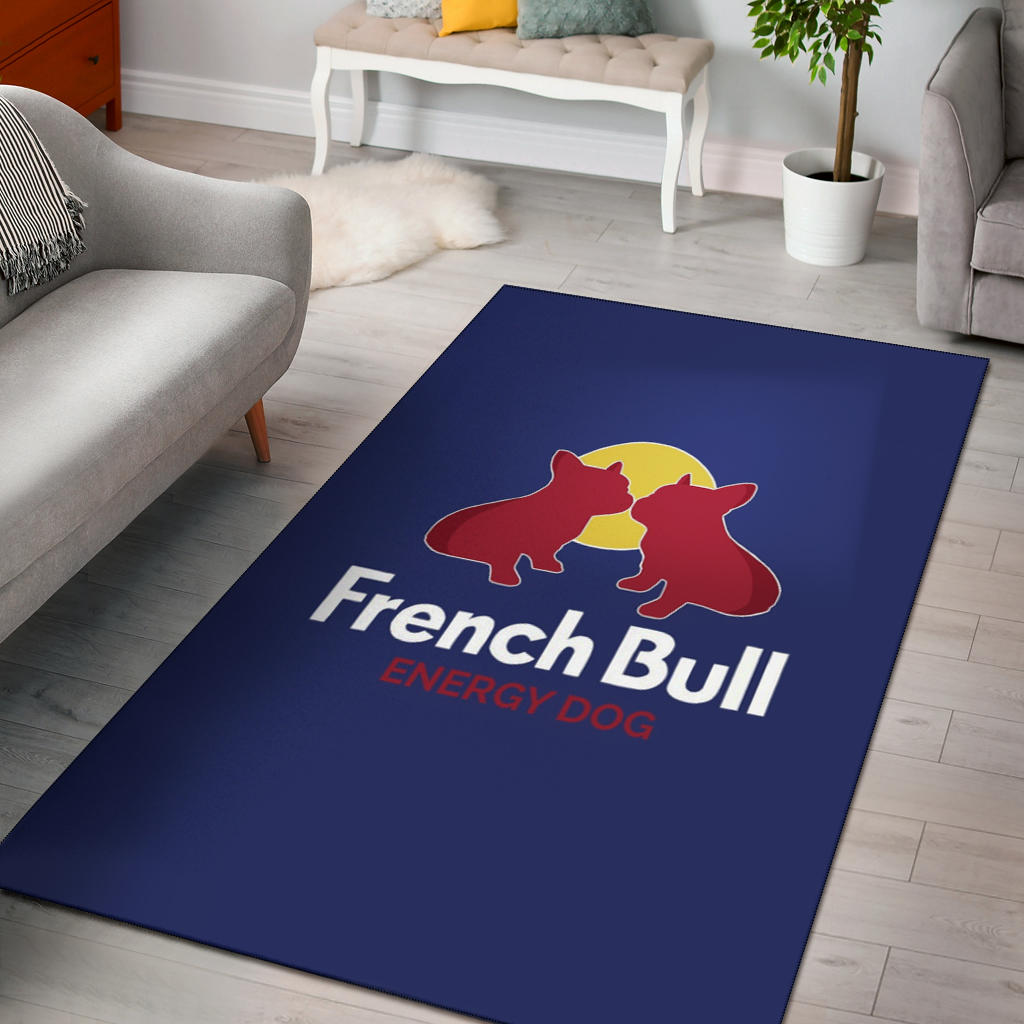 Frenchie Energy - French Bulldog Rug - frenchie Shop
