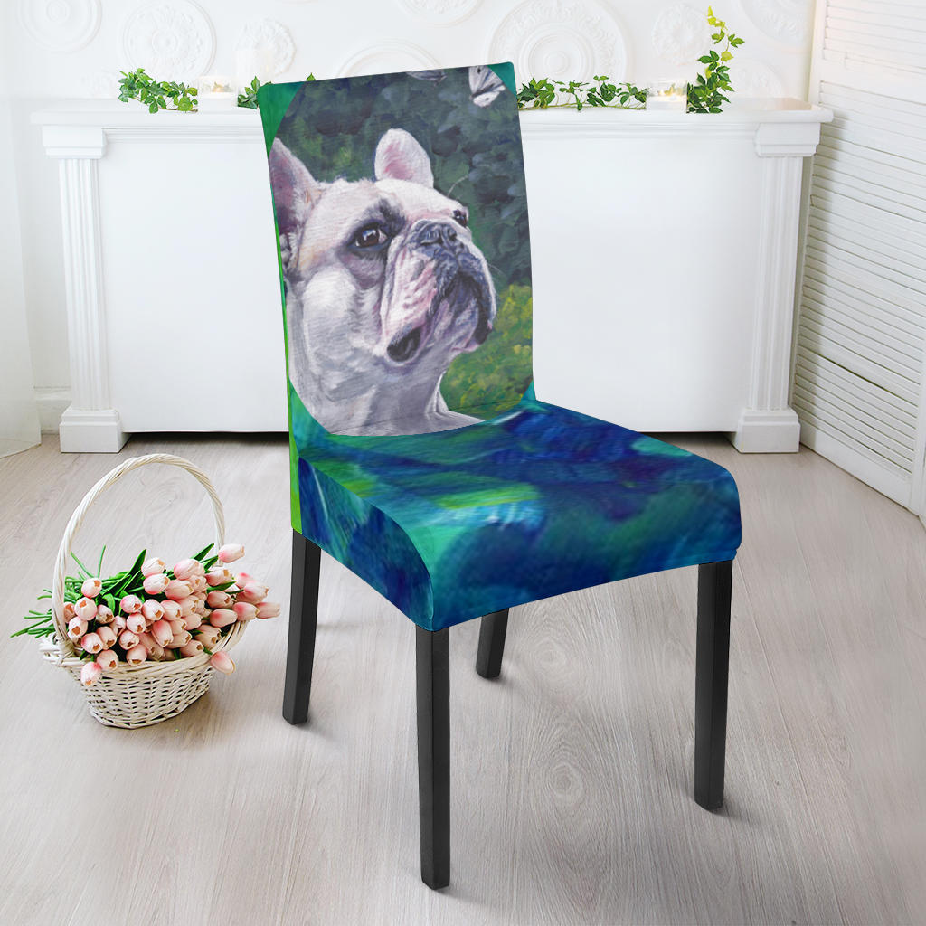 Painting White Frenchie - French Bulldog Dining Chair - frenchie Shop