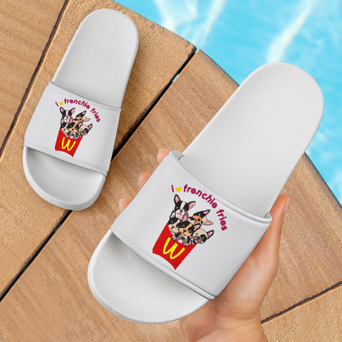 Funny Fries Frenchie - French Bulldog Slide Sandals - frenchie Shop