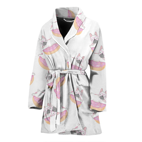 Funny Donut Frenchie - French Bulldog Bath Robe Women - frenchie Shop