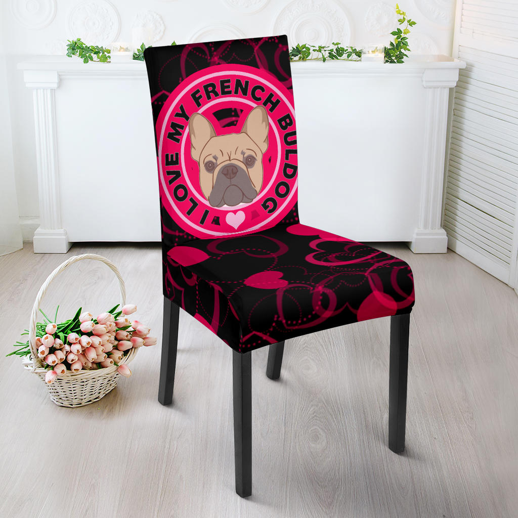I Love My Frenchie - French Bulldog Dining Chair - frenchie Shop