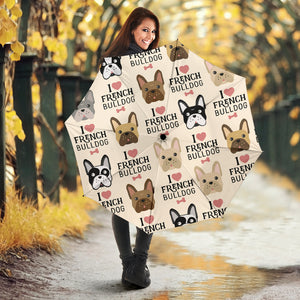 I Love Frenchie - French Bulldog Umbrella - frenchie Shop