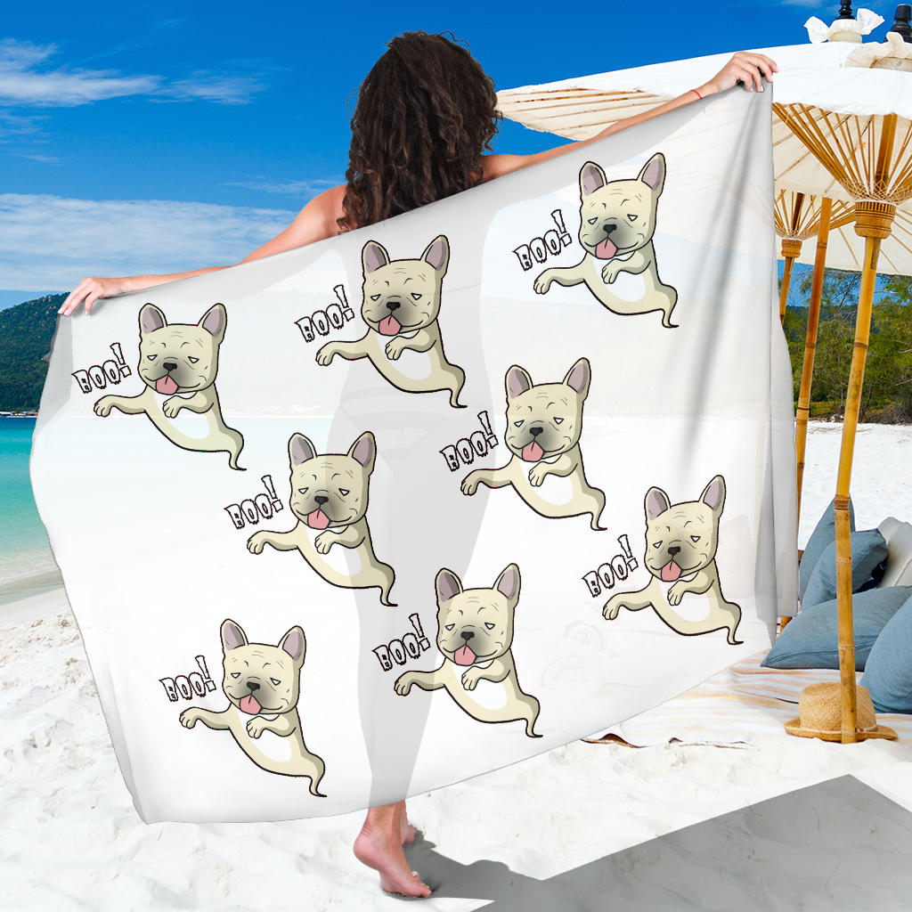 Funny Ghost Frenchie - French Bulldog Sarong - frenchie Shop