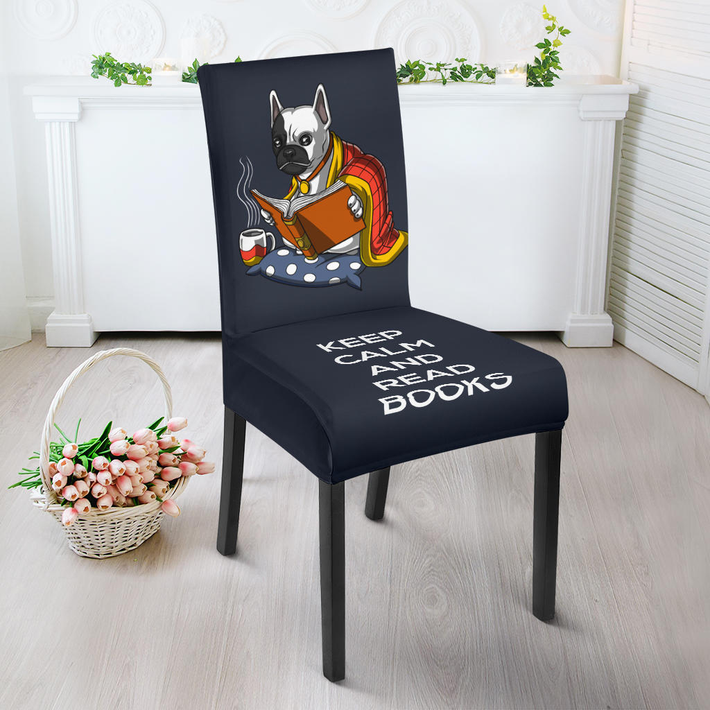 Funny Keep Calm Frenchie - French Bulldog Dining Chair - frenchie Shop