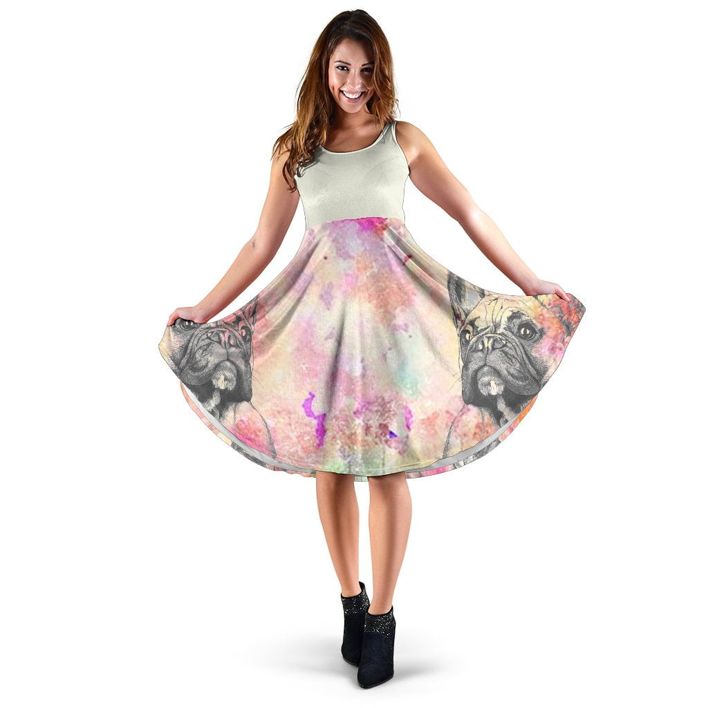 Frenchie Black Paint - French Bulldog Women Dress - frenchie Shop