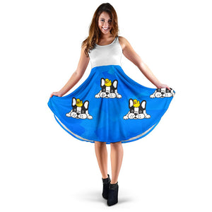 Frenchie with Rubber Ducky - French Bulldog Women Dress - frenchie Shop