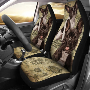 French Bulldog Car Seat Covers (Set of 2) - Frenchie Bulldog Shop