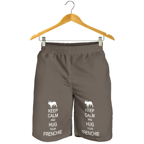 Keep Calm and Hug Frenchie - French Bulldog Men Short - frenchie Shop