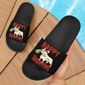 Funny Zombie Frenchie - French Bulldog Slide Sandals - frenchie Shop