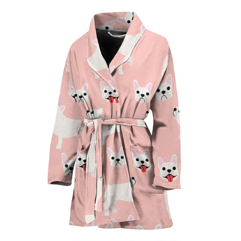 Funny Puppy Frenchie - French Bulldog Bath Robe Women - frenchie Shop