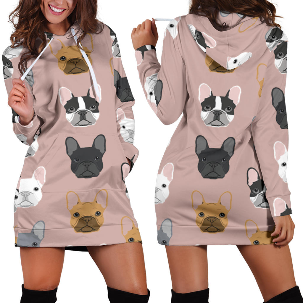 Frenchie Many - French Bulldog Women Hoodies - frenchie Shop