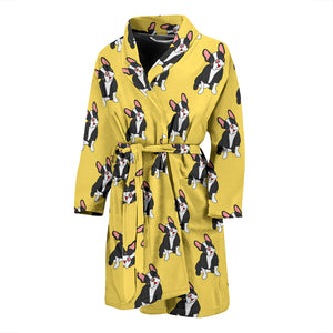 Funny Black Frenchie - French Bulldog Bath Robe Men - frenchie Shop
