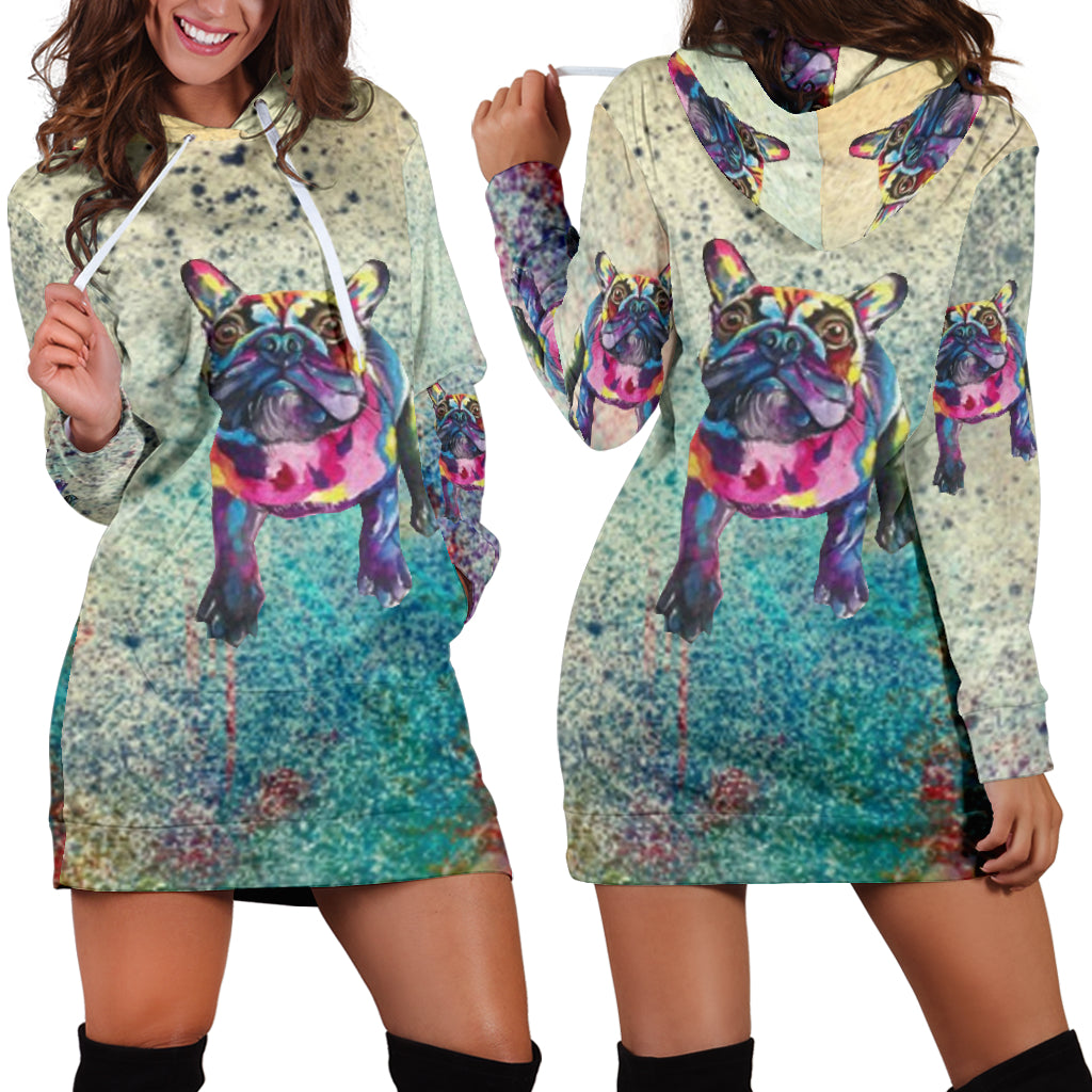 Frenchie Paint - French Bulldog Women Hoodies