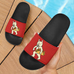Funny Tacos Frenchie - French Bulldog Slide Sandals - frenchie Shop