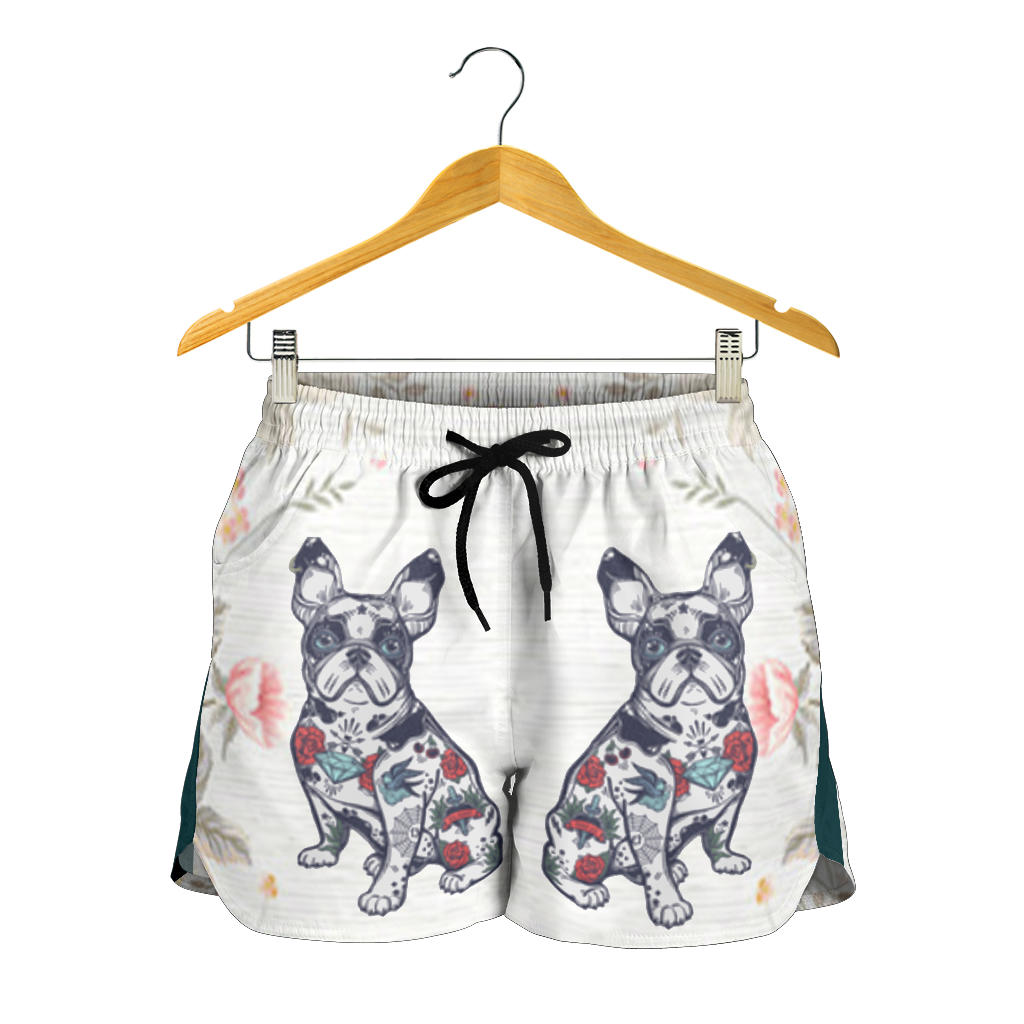Abstract Flower Frenchie - French Bulldog Women Short - frenchie Shop