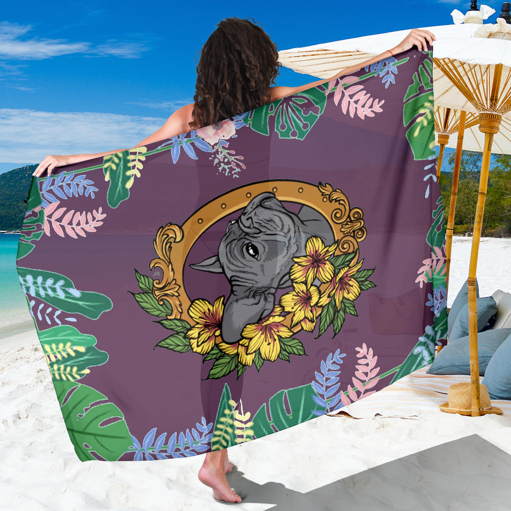 Flowery Frenchie - French Bulldog Sarong - frenchie Shop
