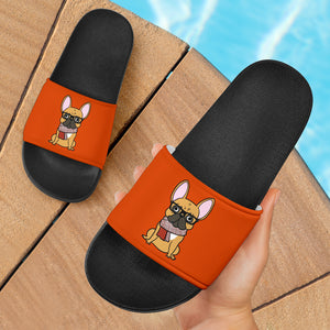 Funny Cute Frenchie - French Bulldog Slide Sandals - frenchie Shop