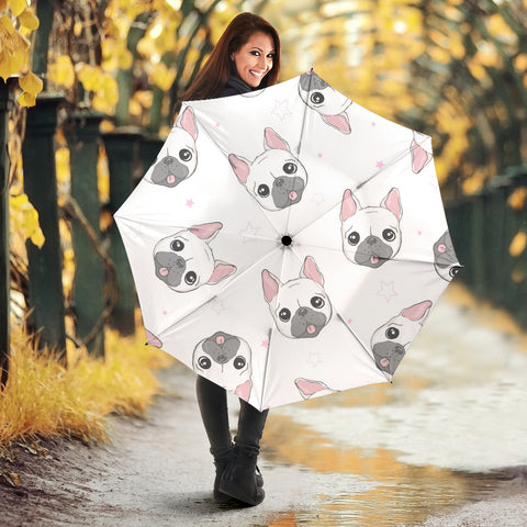 Cute White Frenchie - French Bulldog Umbrella - frenchie Shop