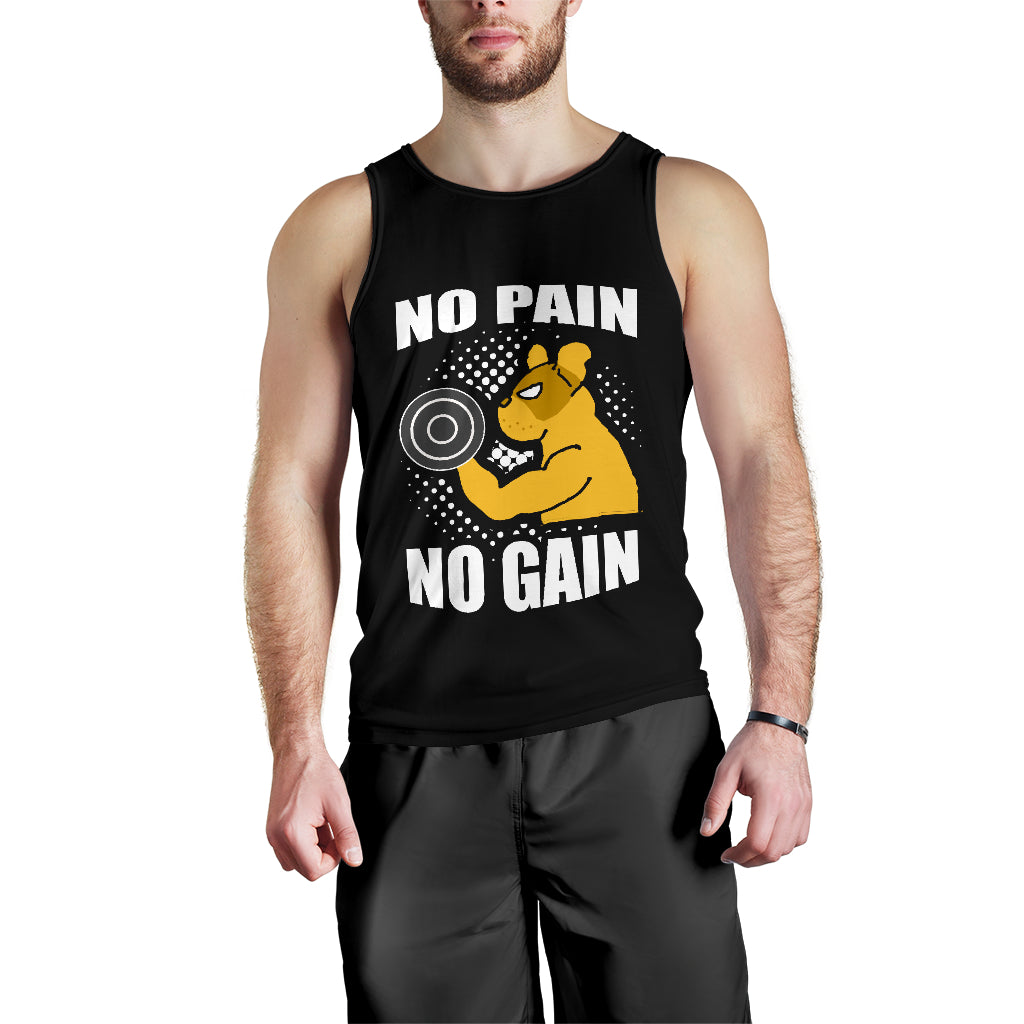 NO PAIN NO GAIN -  - TANK TOP FOR MEN - frenchie Shop