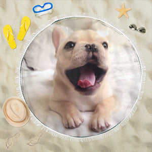 Yawn Frenchie - French Bulldog Beach Blanket - frenchie Shop