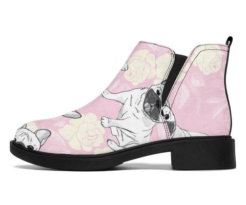 White Frenchie - French Bulldog Fashion Boots - frenchie Shop
