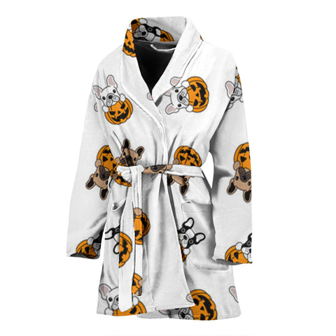 Funny Halloween Frenchie - French Bulldog Bath Robe Women - frenchie Shop