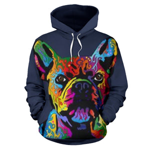 Art Face Frenchie - French Bulldog Hoodie - frenchie Shop