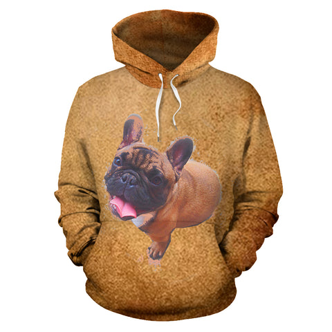Brown Happy Frenchie - French Bulldog Hoodie - frenchie Shop