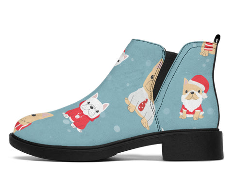 Cute Funny Christmas Frenchie - French Bulldog Fashion Boots - frenchie Shop