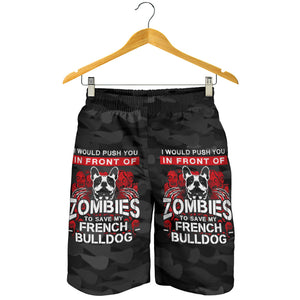 Zombie - French Bulldog Men Short - frenchie Shop