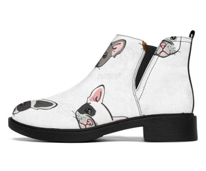 Cute Head Frenchie - French Bulldog Fashion Boots - frenchie Shop