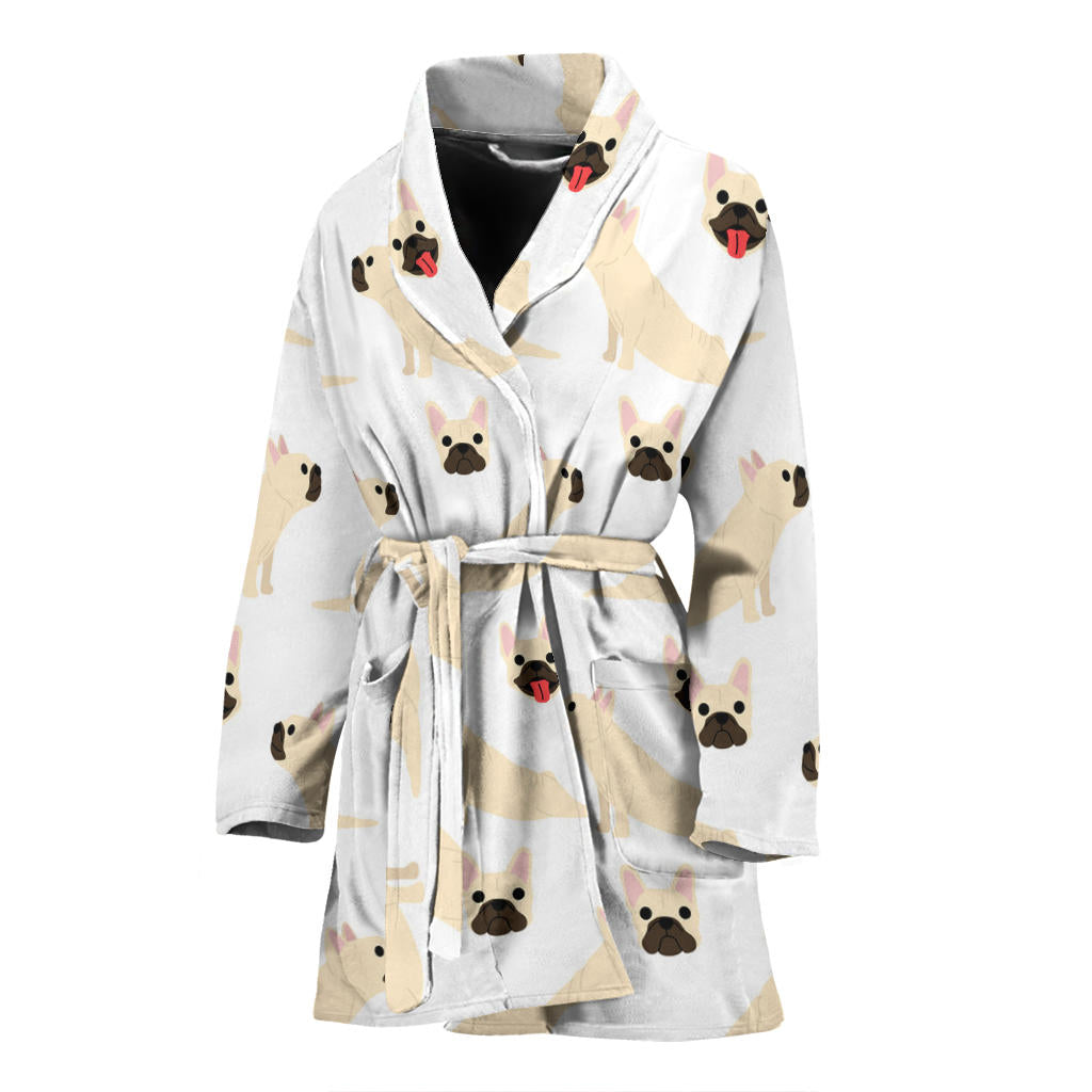 Luna - Bathrobe Women - Frenchie Bulldog Shop