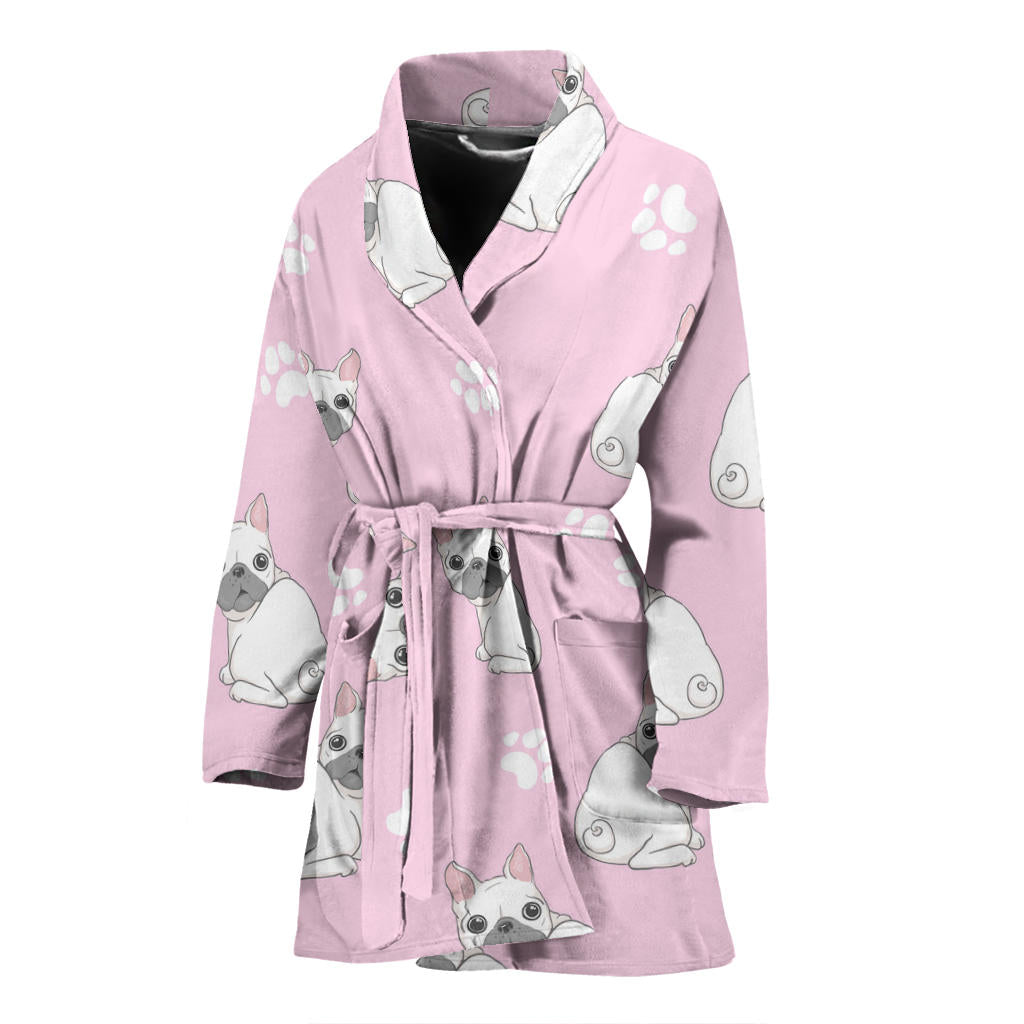Frankie - Bathrobe for women - Frenchie Bulldog Shop