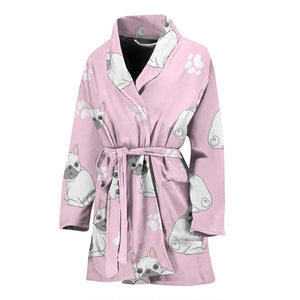 Cute White Frenchie - French Bulldog Bath Robe Women - frenchie Shop