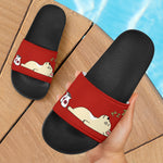 Funny Drunk Frenchie - French Bulldog Slide Sandals - frenchie Shop