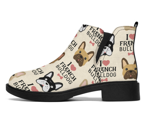 I Love Frenchie - French Bulldog Fashion Boots - frenchie Shop
