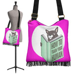 Funny Train Frenchie - French Bulldog Boho Handbag - Frenchie Bulldog Shop